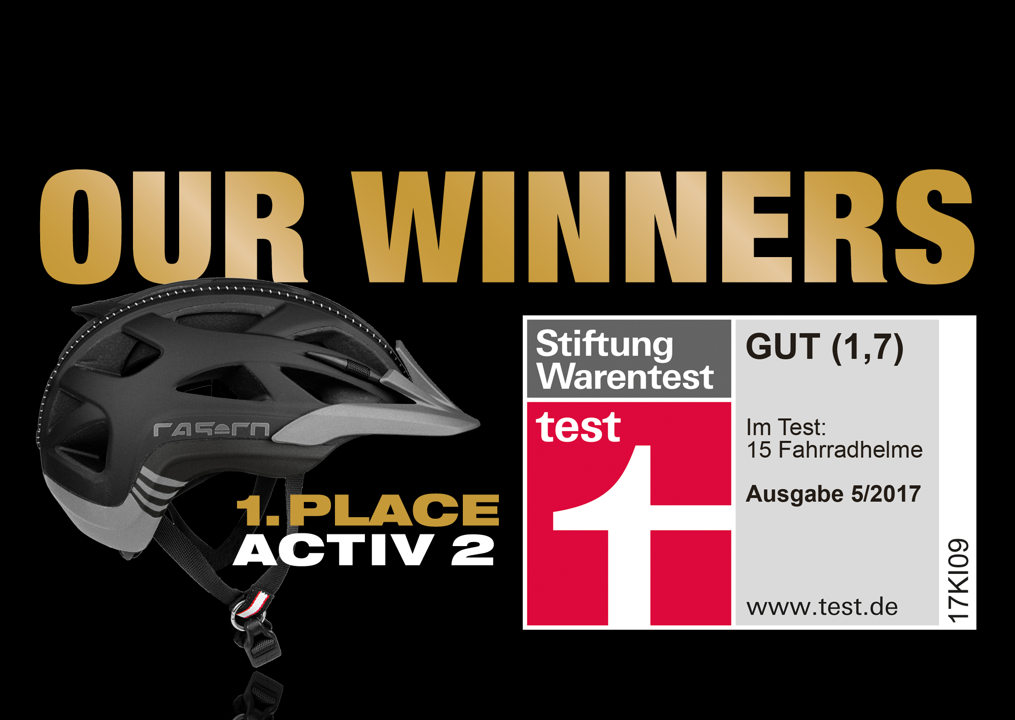 casco activ 2 is test winner of stiftung warentest adac. Black Bedroom Furniture Sets. Home Design Ideas